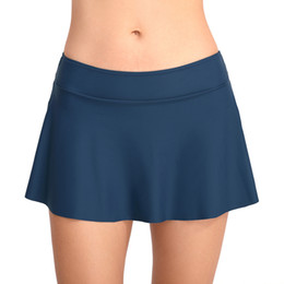 8685308063d Plus Size Swimsuit Bottoms Australia - 2019 Women's Bottom Swimming Shorts  Skirts Solid Color Swimsuit Pants