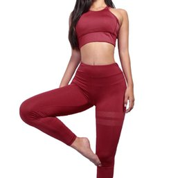 $enCountryForm.capitalKeyWord UK - 2019 new in stock Fitness Sports Yoga Suit Women Clothes two piece sets vest long pants gym running sport suits Professional Design 7 Styles