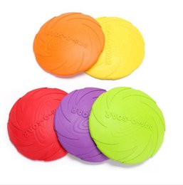 Eco Friendly Toys Australia - Outdoor Soft Eco-friendly Silicone Rubber Dog Frisbee Pet Tooth Resistant Fetch Toys Dogs Training Flying Disc Playing Toy Top Quality
