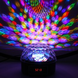 crystal ball for show UK - 9 Colors LED Crystal Magic Ball Effect Light DMX Disco Dj Stage Light for KTV Club Pub Bar Wedding Show Voice-activated Stage Lights