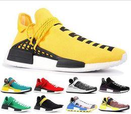 Discount sample shoes men - 2019 Human Race mens running shoes With Box Pharrell Williams Sample Yellow Core Black sport Designer Shoes Women Sneake