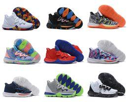 $enCountryForm.capitalKeyWord UK - Top kyrie Taco Black Magic Sky star Mens Basketball Shoes Chaussures 5s 5 Men Rainbow Black White Sports Sneakers Size US 7-12
