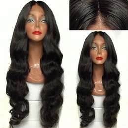 long african hair waves hairstyle Australia - Trending Style For African Americans Body Wave Virgin Brazilian Human Hair Lace Front Wigs Bleached Knot Silk Top Curly Hair