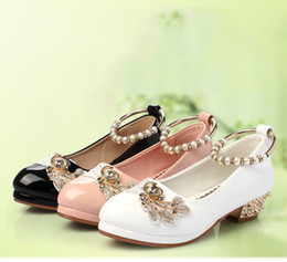 $enCountryForm.capitalKeyWord Australia - Lovely Black White Pink Flower Girls' Shoes Kids' Shoes Girl's Wedding Shoes Kids' Accessories SIZE 26-37 S321033