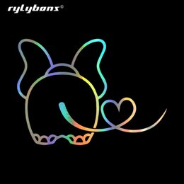 Funny car window accessories online shopping - Rylybons cm Funny Baby Elephant W Hearty Tail Heartbeat Car Sticker For Window Bumper Laptop Vinyl Decals Car Accessories