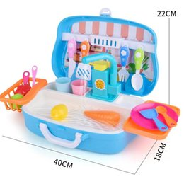 kitchen puzzle Australia - Plastic Kids Dishwasher Toy Pretend Play Kitchen Tool Set Children Puzzle Early Education Intelligence Development