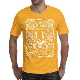 Discount man city t shirts - Guns N' Roses GNR Paradise City Men's Guns and Skulls Printed Men's T-Shirts Cute Breathable Crew Neck Sh