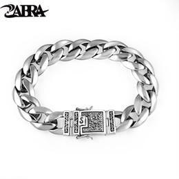 $enCountryForm.capitalKeyWord Australia - Zabra Real 925 Silver Men's Bracelet 12mm Wide Smooth Flower Safe Lock High Polish Link Chain Male Biker Silver Bracelet J190719