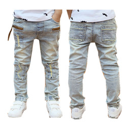 $enCountryForm.capitalKeyWord Australia - Boys Jeans 2018 Spring Autumn Light-colored Good Quality Jeans For Boys Fashion Style Children Pants 3to 12 Years Old B131 Y19051504