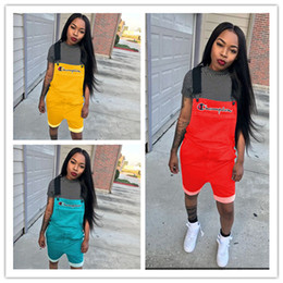 $enCountryForm.capitalKeyWord Australia - Women Champions Letter Overall Letters Printed Jumpsuit Suspender Pants Straps Shorts Overalls Summer Romper Brace Trousers S-2XL