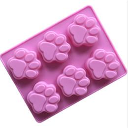 $enCountryForm.capitalKeyWord Canada - Cute puppy dog cat claw design silicone cake pop mold small bone muffin cupcake baking mould DIY soap mold
