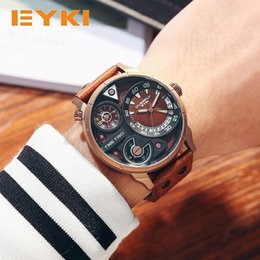 $enCountryForm.capitalKeyWord Australia - Wholesale Large Dial Watch Luminous Luxury Men's Watch Creative EYKI Super Big Dial Two Time Zone Display Fashion Sport Watch Men Waterproof