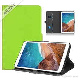 $enCountryForm.capitalKeyWord Australia - PU Leather kickstand Card Slot Smart Tablet Case Protective Cover with Auto Sleep Wake Function for Xiaomi Mipad 4 Opp Bag