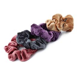 $enCountryForm.capitalKeyWord Australia - 1PC Women Elegant Velvet Solid Elastic Hair Bands Ponytail Holder Scrunchies Tie Hair Rubber Band Headband Lady Hair Accessories