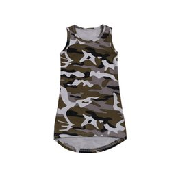 aa23fdc22a2ed Kids Clothes Dress For Girl Camouflage Print Children Girl Dress Summer  Sleeveless Baby Dresses 2019