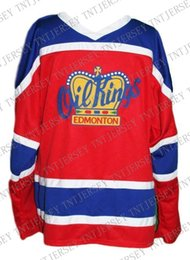 Oil Quick Australia - Custom Edmonton Oil Kings Retro Hockey Jersey New Red Personalized stitch any number any name Mens Hockey Jersey XS-5XL