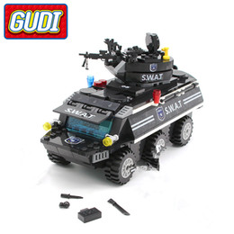 swat blocks NZ - GUDI Compatible with Legoings SWAT Armored Vehicles Blocks 349pcs Bricks Building Block Sets Model Educational Toys For Children