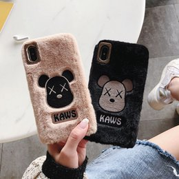 hot iphone girl Australia - Fall and Winter Plush Couple Phone Case Brand Girls and Womens Case Phone 11Pro High Quality Cute Cartoon Cover Hot Sale 14 Styles Wholesale