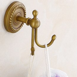Antique wAll hooks online shopping - Antique Bronze Color Brass Wall Hooks Mounted Bathroom Coat Hook Bathroom Accessories