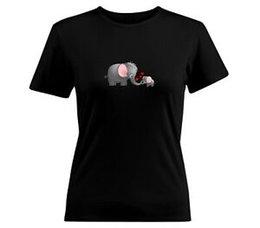 $enCountryForm.capitalKeyWord UK - Cute Baby Mom Elephant Heart animal gift Shirt Tee Girls Juniors Women T Shirt