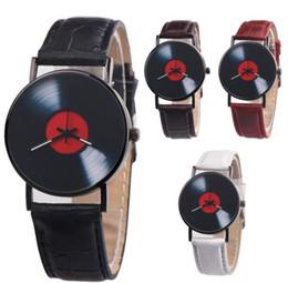 $enCountryForm.capitalKeyWord Australia - Retro Vinyl Record Dial Faux Leather Men Women Analog Quartz Wrist Watch Gift Relogio Feminino dropshipping