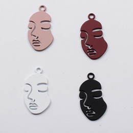 gold charm sexy girl Australia - 10pcs 30x18mm Fashion gold Abstractive Human Sexy Women Face shape charms simple metal pendants girl dangle jewelry making diy