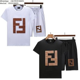 $enCountryForm.capitalKeyWord Australia - Men's T-shirt shorts track suit men tracksuit new listing trend comfortable high quality Double F letter print