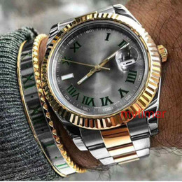 Blue geneva watch online shopping - Fashion AAA Men Geneva Watch Steel Roman Gray Dial Womens Luxury Brand Mechanical Automatic Mens Reloj Datejust Watches WristWatches