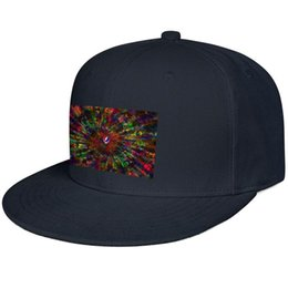 Background Prints Australia - Grateful dead background Snapback Flat Cap Custom 100% Cotton Caps Adjustable Fits Unisex Men Womens Hat