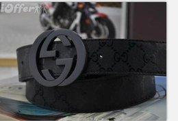 Venta al por mayor de 2020 Nuevo cinturón de cuero genuino para hombres correa de cuero vintage para hombres, pantalones vaqueros, correa de color negro, cinturones anchos, 105-120 cm, sin caja 02