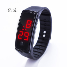 New Watch Touch Screen Australia - 2019 new Sports rectangle led Digital Display touch screen watches Rubber belt silicone bracelets Wrist watches