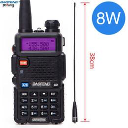 Two way radios accessories online shopping - Baofeng UV R W High Power Watts powerful Walkie Talkie long range km VHF UHF dual Band Two Way Radio pofung uv5r hunting