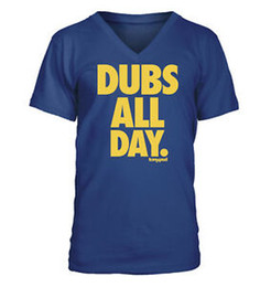 curry shirts NZ - Dubs All Day. - Men's V-NeShort-Sleeve T-Shirt - Short-Sleeve Short-Sleeves Curry