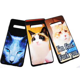 navy blue iphone cases UK - Samsung S10 Glass Case Cute Cat Phone Back Cover for Samsung Galaxy Note9 s9 s9plus s10 s10plus s10lite