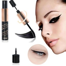$enCountryForm.capitalKeyWord Australia - long lasting mascara facial Charm Big Eye Eyeliner silk fiber eyelash Mascara Two In One Eye Makeup Artifact lengthening curling