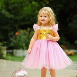 $enCountryForm.capitalKeyWord Australia - rainbow girls dresses Unicorn princess dress kids designer clothes girls tutu dresses sequin kids dress kids clothes baby girl dress A6200