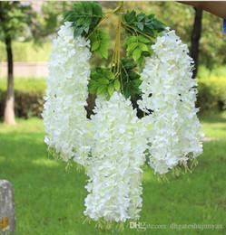 $enCountryForm.capitalKeyWord Australia - 110cm Wisteria Vine flower Artificial flowers Silk Flower Rattan for Wedding Centerpieces Decorations Bouquet Garland wisteria