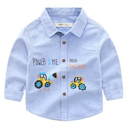 $enCountryForm.capitalKeyWord Canada - New Arrival Autumn Korean Version Of The Boutique Childrens Car Cotton Oxford Long-sleeved Shirt Boy Shirt