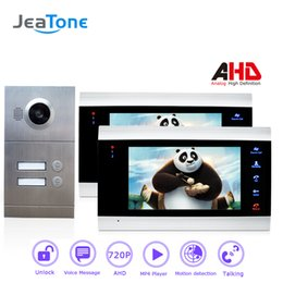 $enCountryForm.capitalKeyWord NZ - JeaTone 720P AHD 7'' Video Door Phone Intercom 4-Wired Door Bell Door Speaker Security System Voice message Motion Detection 2 Apartment