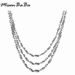$enCountryForm.capitalKeyWord Australia - 5Pcs lot Stainless Steel Link Chains Necklaces Fashion Diy Jewelry Cuban Chains Wholesale Chain DIY Crafts