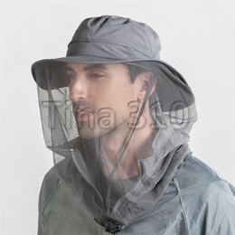 $enCountryForm.capitalKeyWord Australia - Anti-mosquito hat outdoor adventure travel cap dust cover face quickly dry fishing cap mountaineering sun hat T3C5023