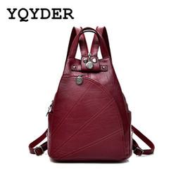 $enCountryForm.capitalKeyWord Australia - Fashion Leisure Women Backpacks Women's Pu Leather Backpacks Female School Shoulder Bags For Teenage Girls Travel Back Pack MX190708