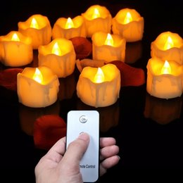 $enCountryForm.capitalKeyWord Australia - (12 Pieces) Small Flickering Decorative Candles With Remote Control,yellow Red Bright Fake Tea Lights For Birthday,love T8190620