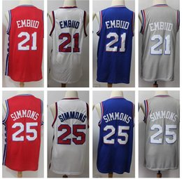 jersey sales Australia - #21 25 Hot Sale Basketball Jerseys Red White Blue Mens Best Quality Stitched