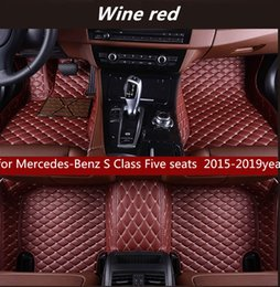 seat floor mats UK - for Mercedes-Benz S Class Five seats 2015-2019year Non-slip non-toxic floor mat car floor mat
