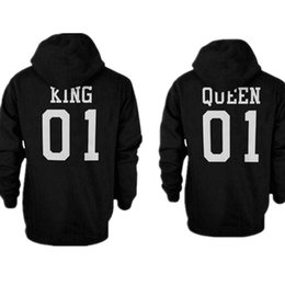 4a084f8e7e 2106 Fashion King Queen Hoodie Couple Pullover Sweatshirt Unisex Hoodies  Causal Long Sleeve Crewneck Tracksuit For Men Women
