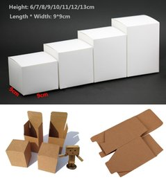 $enCountryForm.capitalKeyWord Australia - 50pcs 13 sizes Kraft Paper cardboard Box for Jewelry gift Candy packaging carton Box gift soap Package Packing paper white