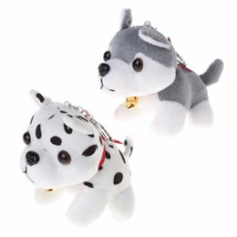 dinosaur toy sound UK - HBB Cute Puppy Toys Husky Plush Toys Spotty Dog Stuffed Animal Plush Toy Keychain