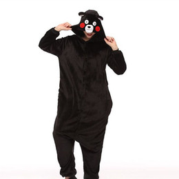 Chinese  Women Kigurumi Kumamon Bear Pajamas Sets Flannel Animal Hooded Pajamas Adult Winter Onesies Nightie Pyjamas Sleepwear Homewear manufacturers