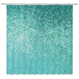 Chinese  Blue Mosaic Background Shower Curtains Fashion Bathroom Decor Waterproof Polyester Fabric Home Bath Shower Curtain Set 69 x 70 Inch Cheap manufacturers